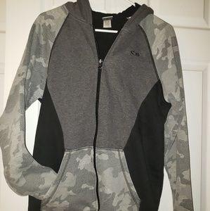 Boys, hooded zip up sweat shirt